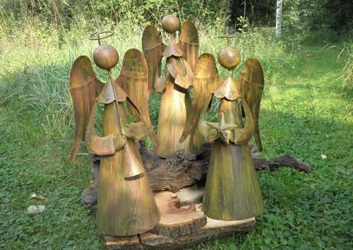 Engelfamilie aus Metall - Zauberhafte Ideen Forchheim