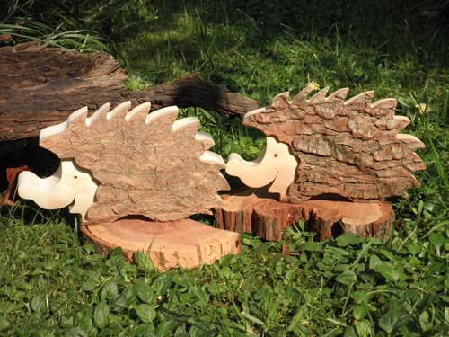 Igel aus Holz mit Rindenoptik Zauberhafte Ideen Forchheim