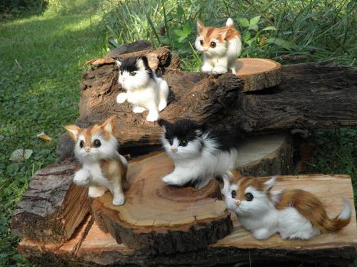 Hübsche kleine Katzen aus Naturfell - Zauberhafte Ideen Forchheim