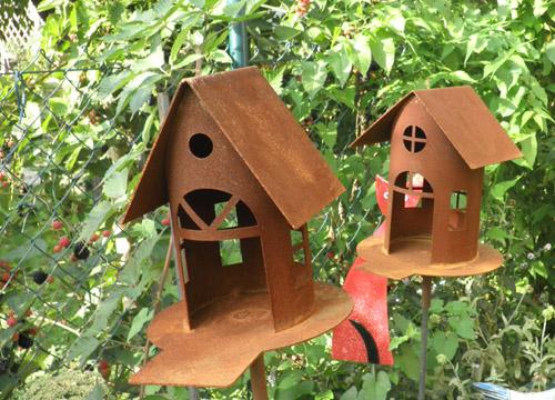 Vogelhäuser aus Rost - Zauberhafte Ideen Forchheim